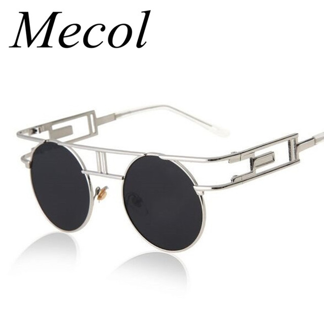 Fashion Metal Frame Steampunk Sunglasses Men Gafas De Sol Unique Women Gothic Sun Glasses Vintage Oculos De Sol Feminino M051