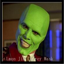 Free Shipping Movies Theme The Mask Jim Carrey Mask Mens Fancy Dress Superhero Comic Movie Mask
