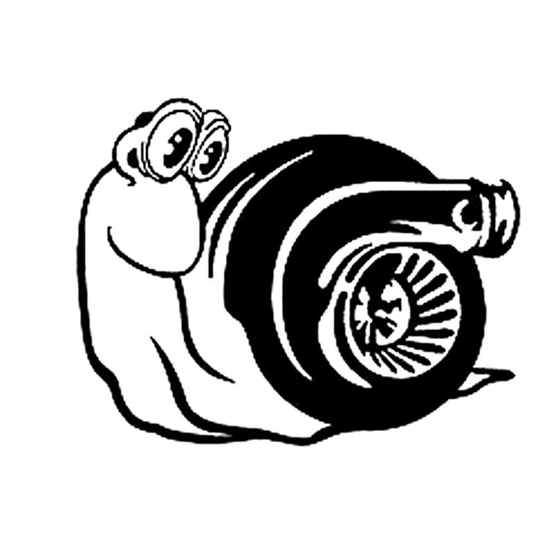 """15.5 ס""""מ * 12.2 ס""""מ turbo חילזון אופנוע מדבקה לרכב מדבקות ויניל אופנה שחור/אביזרי כסף s6-3163"""