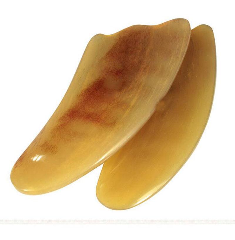 Bittb 1 Pcs Naturel Corne de Boeuf Corps Gua Sha Outils Grattage Santé soins Guasha De