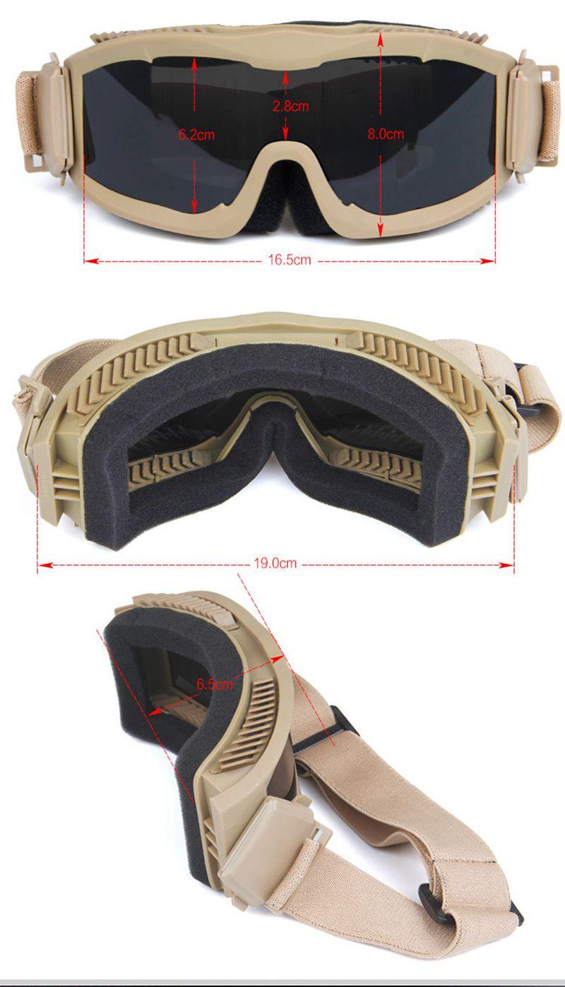 de proteção militar óculos de sol ao