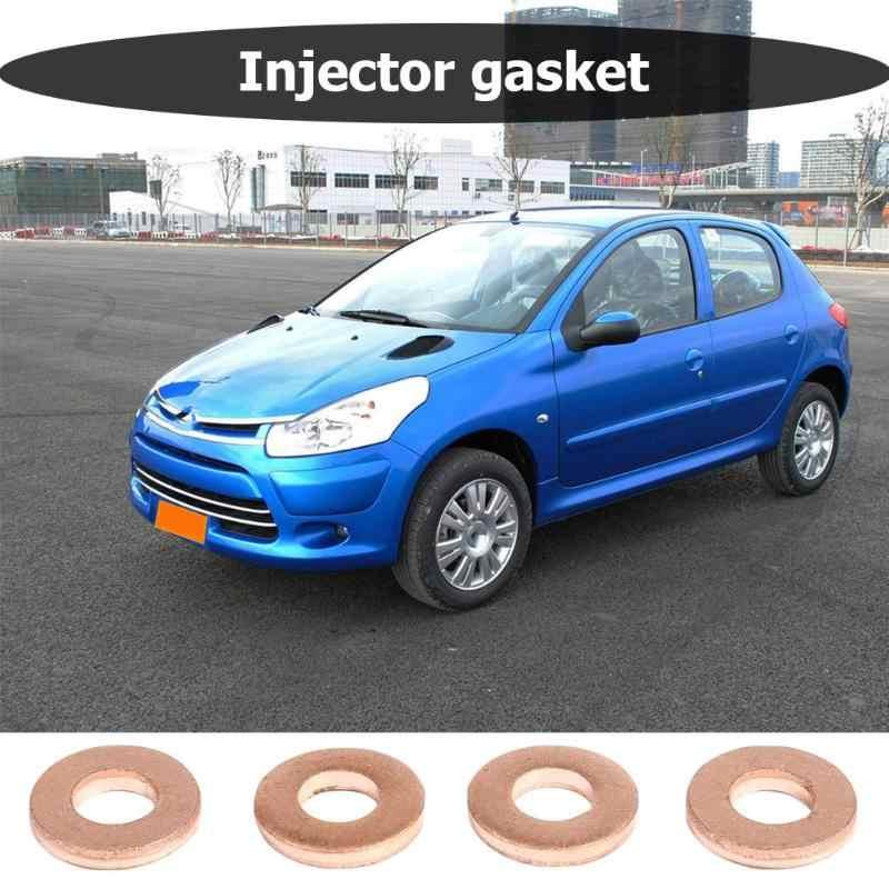 Joint torique 1.6HDI de joint d'espacement de rondelle de cuivre d'injecteur de 4 pièces pour les pièces de rechange automatiques de joint d'injecteur de voiture de Peugeot OE198173