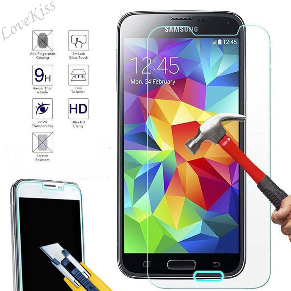 Tempered Glass Screen Protector Compatible with Galaxy A8 2015 4 Pack UNEXTATI Premium HD Anti Fingerprint Screen Protector Film for Samsung Galaxy A8 2015