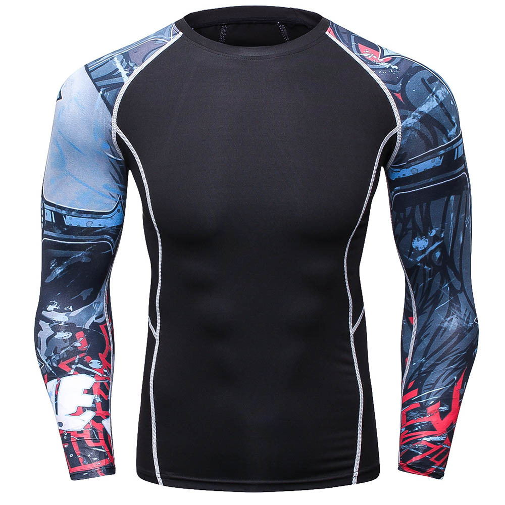 NEW Compression Shirt Men's Breathable Fast-drying T-shirt Bodybuilding Top Crossfit T Fitness weight lifting Base Layer