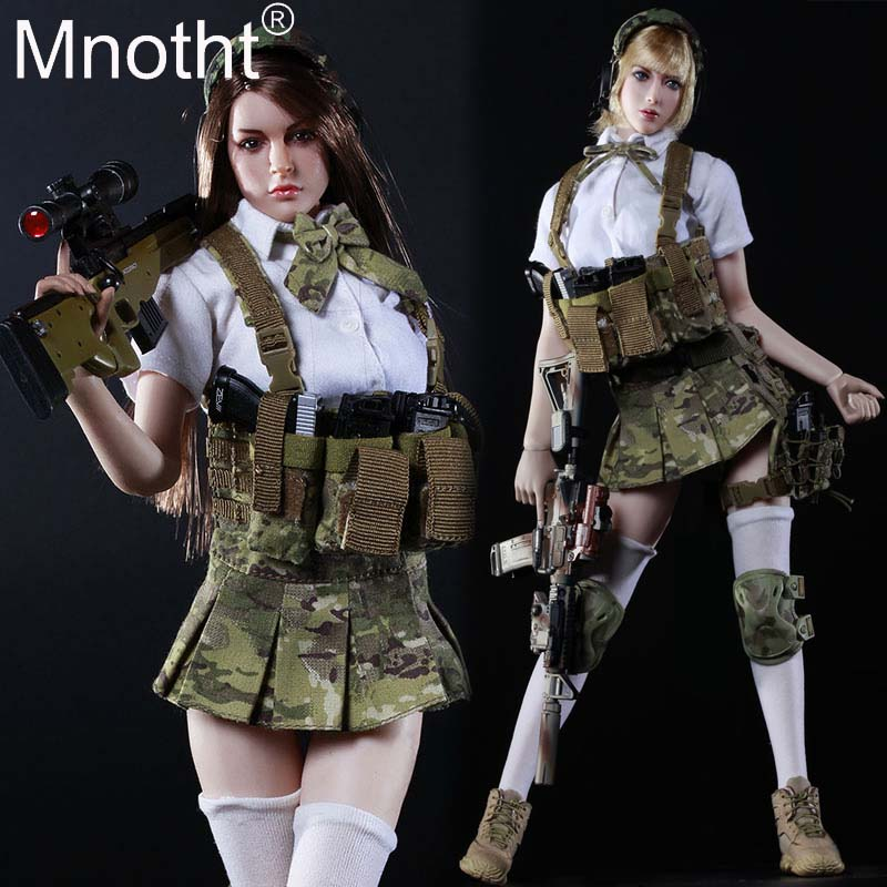1/6 Scale Sexy Female Soldiers Model JK GIRL Set Sister Suit Clothes For 12in PH Doll Action Figure Toys Accessories Toys m3n