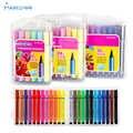 12/24/36 couleurs lavable à l'eau couleur stylo pinceau marqueur surligneur pour enfants papeterie marqueurs peinture dessin Art fournitures