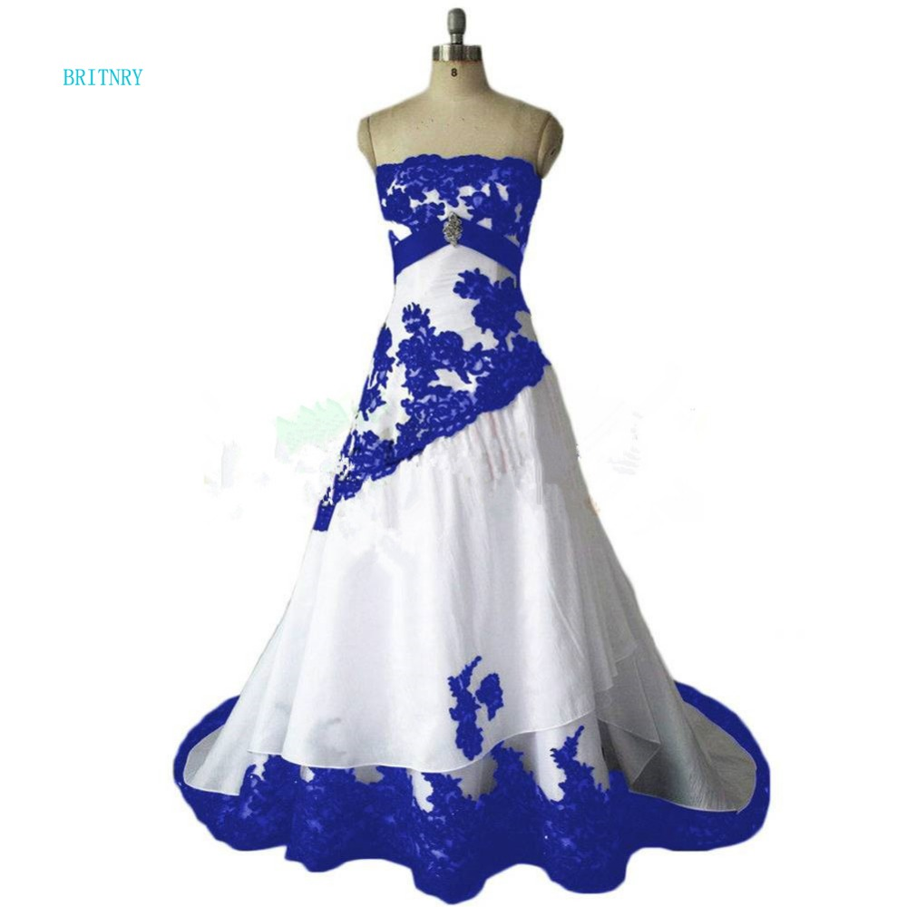 Britnry New Arrivals Strapless Simple Wedding Dress A Line White