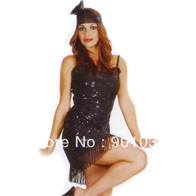 Free Shipping Instyles S 2xl Plus Size Adult 20s Black Flapper