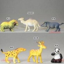 mini wild animal solid pvc animal model figure toy gift 6pcs/set toy gift
