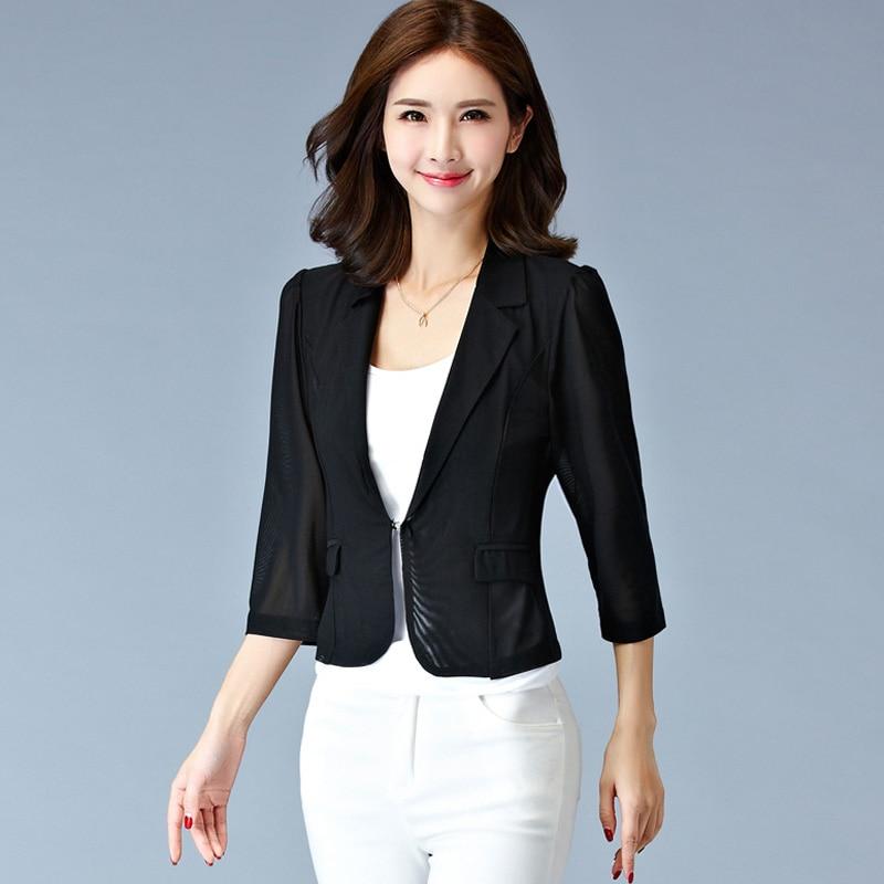 2017 Women Plus Size Gauze Jacket Summer Autumn Short Cardigan ...