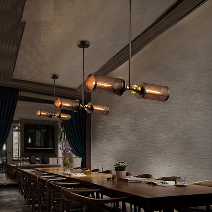 Loft industrial style pendant lighting coffee shop vintage for Suspension luminaire filaire