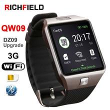 Купить с кэшбэком QW09 Bluetooth Smart Watch Men DZ09 Upgrade Sport 3G WIFI  Watch Support Sim TF Cards Smartwatch Android For xiaomi mi Band