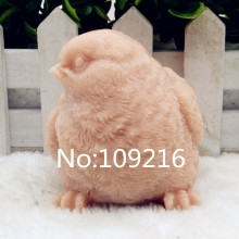 New Product!!1pcs 3D Bird with  Eyes Right (zx204) Food Grade Silicone Handmade Soap Mold Crafts DIY Mould