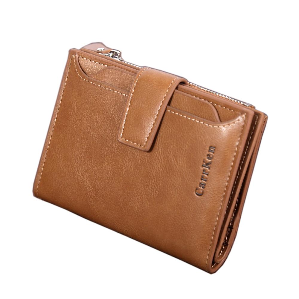New Wallet Vintage Brand Men And Women Wallets Leather Male Purse Card Holder Wallet Fashion Man Zipper Wallet Men Coin Bag