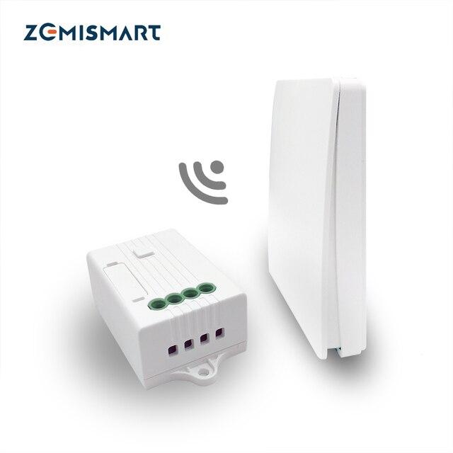Zemismart Interruptor de pared inalámbrico con Control de voz para el hogar, Alexa Echo, Google Home, No necesita batería para bombilla halógena, ventilador de techo