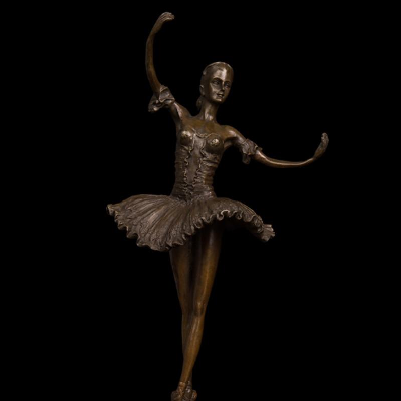 Factory Cost Modern Western Ballerina Dancer Bronze Sculpture Ballet Girl Meg Figurine
