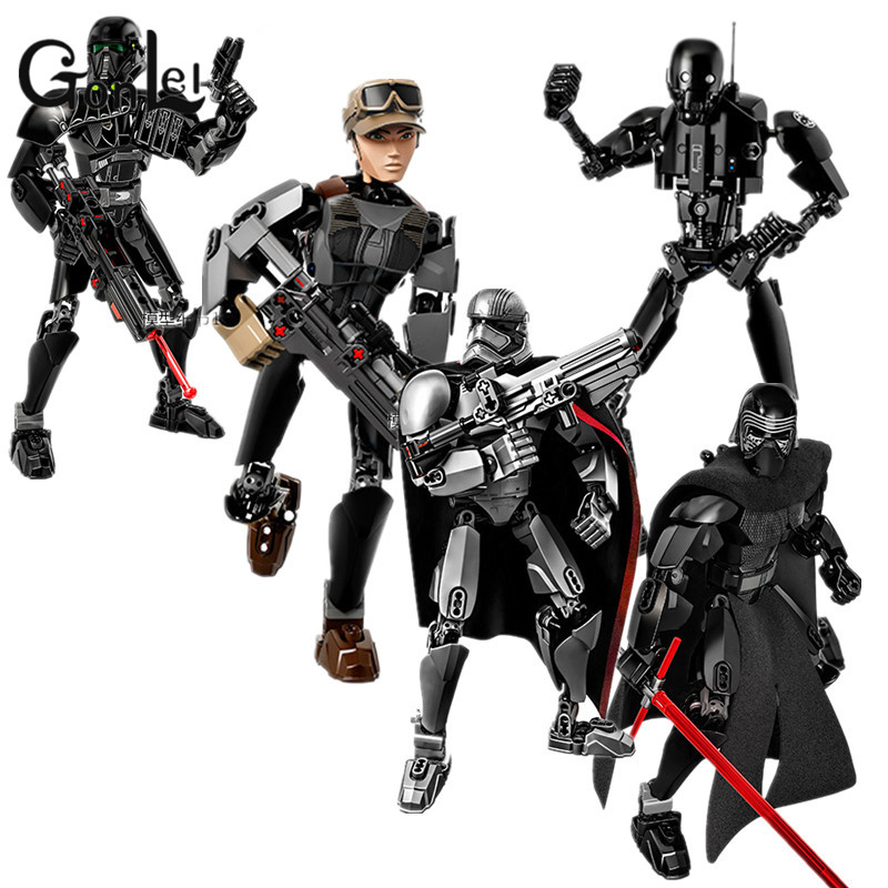 GonLeIRogue One:A Story Luke Skywalker Kylo Ren Obi Wan Jyn Erso K-2SO Building Blocks Bricks Lightsaber Kids toys Christmas