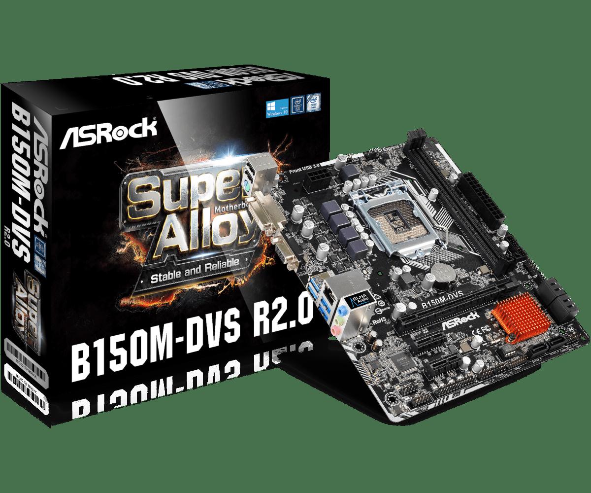 купить Asrock B150M-DVS Desktop Motherboard B150 Socket LGA 1151 i3 i5 i7 DDR4 32G SATA3 USB3.0 VGA DVI Micro-ATX онлайн