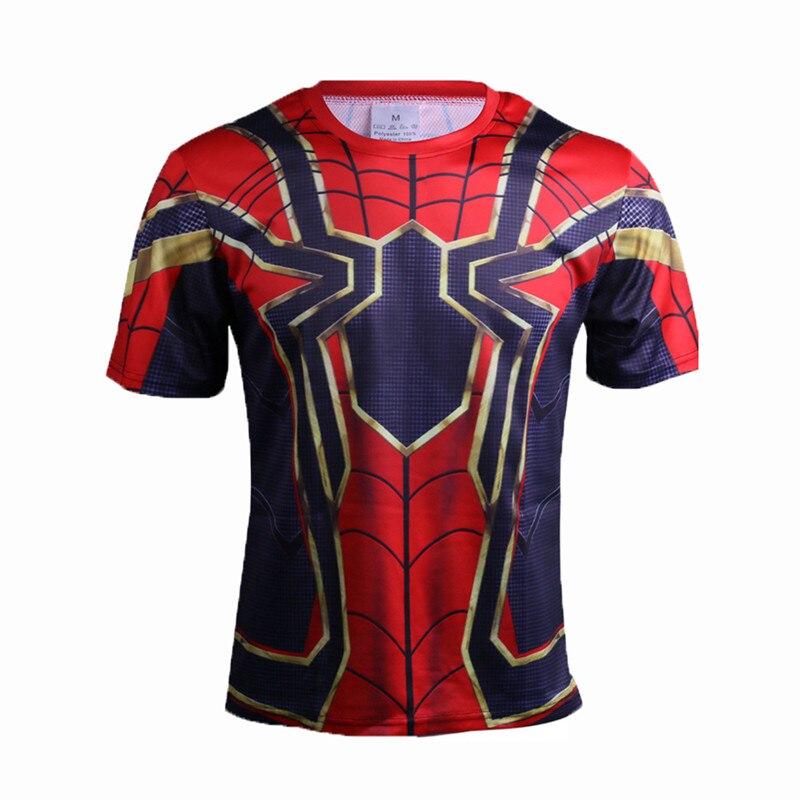 Nova Compressão Camisa de Super-heróis Em Quadrinhos Capitão América homem De Ferro Ajuste Apertado G ym Musculação Camiseta