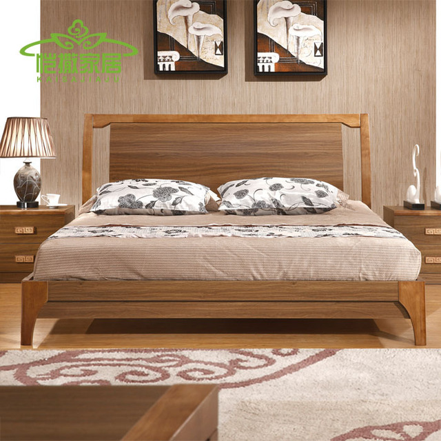 Residential Furniture Wood Bed European Style Garden Bed Beds 1.8 Tatami  High Box Bed Sheets