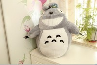 small plush cute Totoro toy stuffed laughing expression totoro doll birthday gift about 45cm 0353
