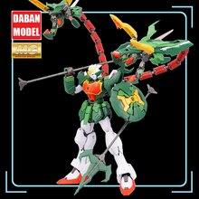 Super Nova XXXG 01S2 zielony dwugłowy smok Altron Gundam zestaw modeli do składania MG 1/100 figurka montaż zabawka prezent woda naklejka