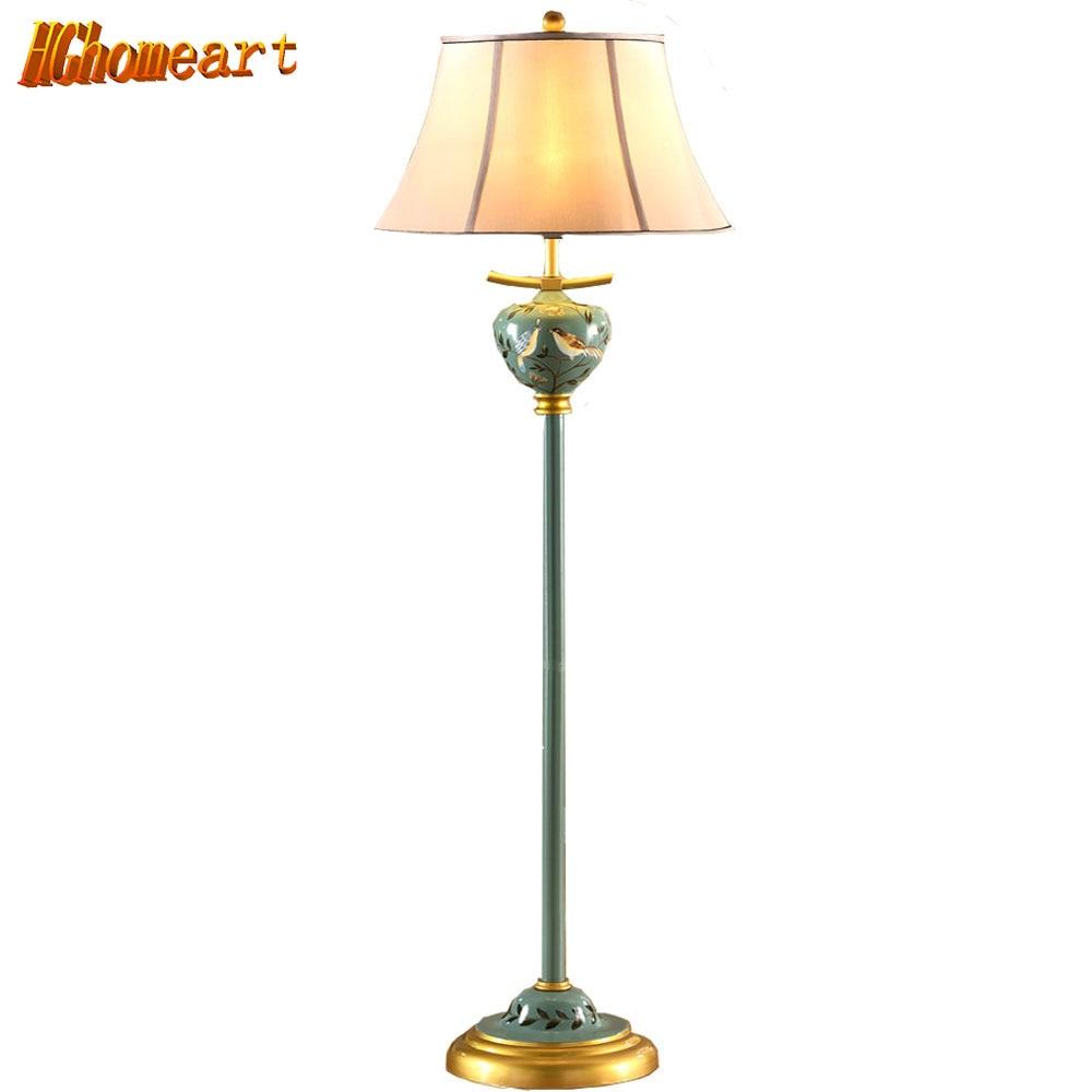 Retro Style Iron Floor Lamp Antique
