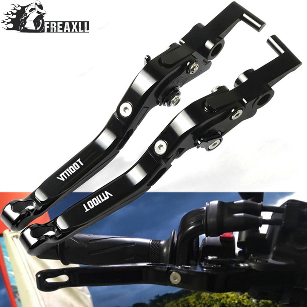 CNC Motorcycle Brake Clutch Levers Adjustable Folding Extendable For Honda VT1100T VT 1100T 1100 T Ace Tourer 1998 1999 2000 in Levers Ropes Cables from Automobiles Motorcycles