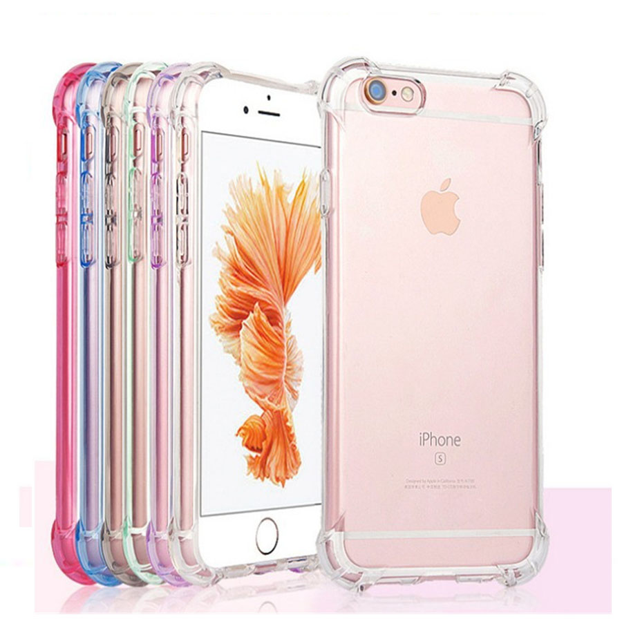 Full Protect Anti-Knock TPU Silicone Case For iPhone 12/Mini/Pro/MAX Transparent Back Cover Case