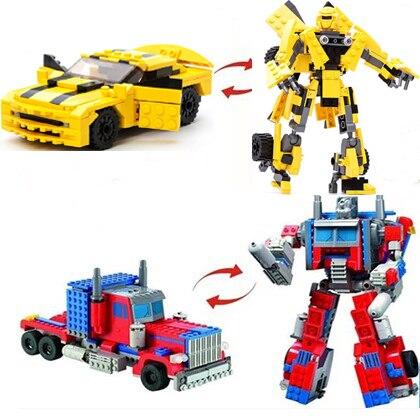 2016 Yeni Orijinal Dönüşüm Robot Bumblebee Yapı Taşları Set Diy 2 1 Autobotlar Modeli Tuğla Oyuncaklar Uyumlu Legoe