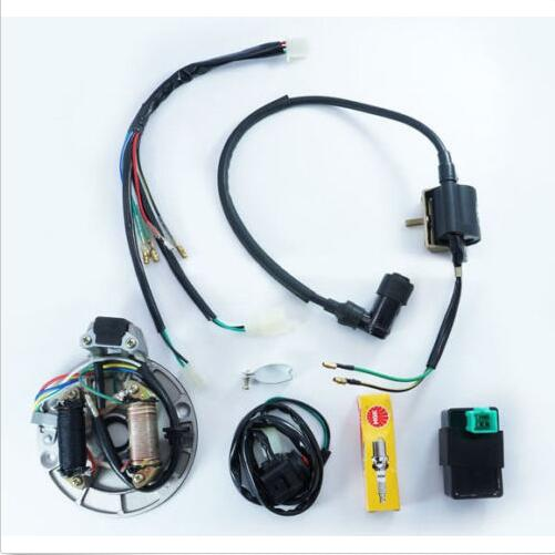 popular pit bike wiring harness buy cheap pit bike wiring harness 125cc kick start dirt pit bike wire harness wiring loom cdi coil magneto xq