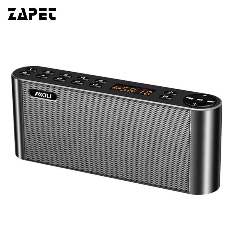 ZAPET Q8 altoparlante Portatile Bluetooth Wireless Speaker HIFI Super Bass doppia carta di Tf di Sostegno Soundbar FM Radio Con Il Mic per telefono