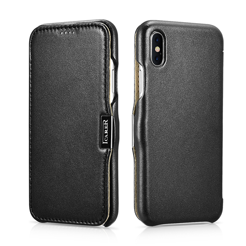 Original ICARER Genuine Leather Case For iPhone XS MAX Luxury Flip Case Cover For iPhone XR