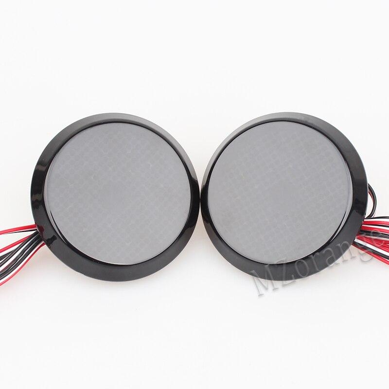 MZORANGE Car 1 Pair Black Smoked LED Rear Bumper Reflector Light Lamp Set For Scion xB iQ Toyota Sienna Corolla Nissan Qashqai