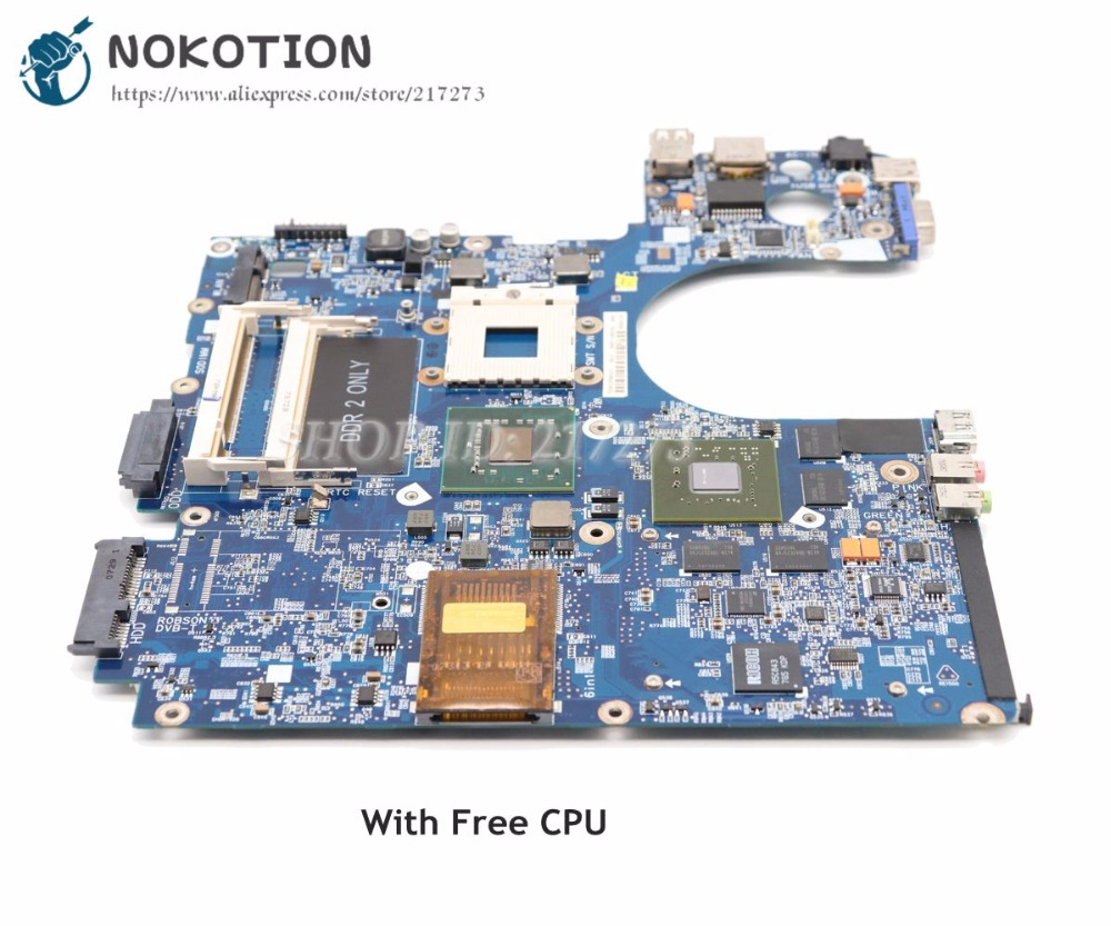 все цены на NOKOTION BA92-04576A BA92-04576B For Samsung R70 Laptop Motherboard with update graphics G86-771-A2 Free CPU онлайн