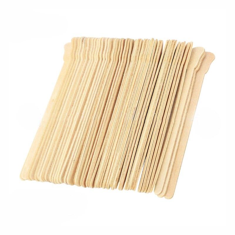 Hair Removing Wax Stick Wooden Strips Hard Beans Mixing Tool Cream Kit Tongue Depressor Facial Mask Spatula
