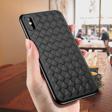 Creative Grid Silicone Case For iPhone 7 7Plus 8 8 Plus X Cases Luxury Ultra Thin Soft TPU Full Case For iPhone 6 6s Plus Cover