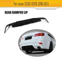PU bompereta difusor trasero del coche Para Lexus IS250 IS300 IS350 2006-2011