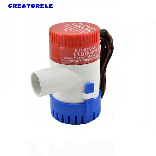 1100GPH 12V water bilge pump High flow submersible used in  seaplane motor home house transfer pump