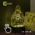 Christmas Gift 3D Visual Usb Night Light Lamp 7 Colors RGB Led Table LAMP Luminarias Divertidas Jesus Decor Nightlight for kids