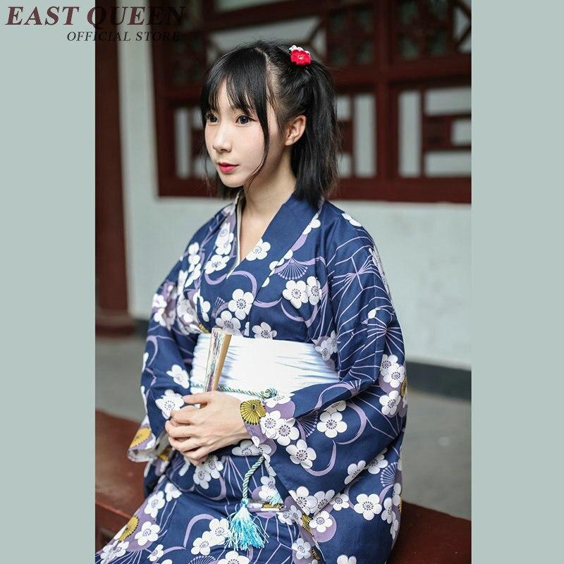 Yukata female kimonos woman 2019 Japanese kimono traditional dress obi haori Japanese cosplay clothing geisha costume KK2347