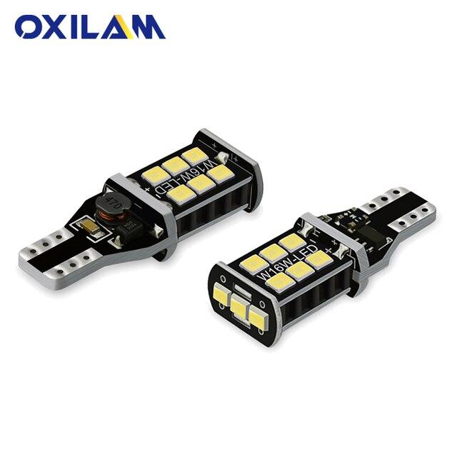 OXILAM 2x T15 W16W Canbus LED de la luz de marcha atrás para Kia Rio K2 3 reposabrazos Ceed Sportage Sorento Cerato alma picanto Optima K3