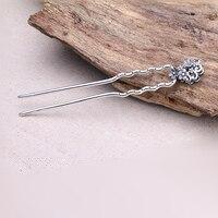 16x116mm plata pelo Pasadores para Jasper Piedra Natural joyería que hace la plata tailandesa pelo Pasadores palillo del pelo DIY Accesorios dys0001
