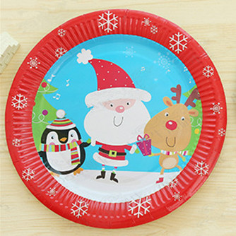 100pcs Large 9inch Paper Plates Christmas Cheer Happy Snowman Party Plates Christmas Tree and Snowflak Sparkle  sc 1 st  AliExpress.com & 100pcs Large 9inch Paper Plates Christmas Cheer Happy Snowman Party ...
