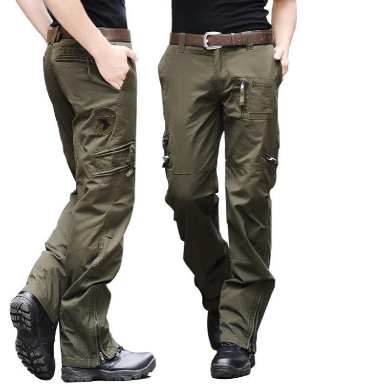 Nouveauté mode automne-été armée vert Camouflage pantalon lâche grande taille Jeans Baggy Cargo pantalon pour hommes livraison gratuite