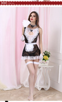 Cosplay Sexy Maid Costumes Women Erotic Lingerie Transparent Lace Sexy Products French Maid Halloween Uniform