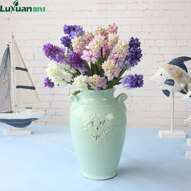 Luxuan Artificial Flowers New Hyacinth Flower Bouquet Europe Style Party Home Birthday Wedding Hotel Decoration Fake Silk Flower-in Artificial & Dried ...