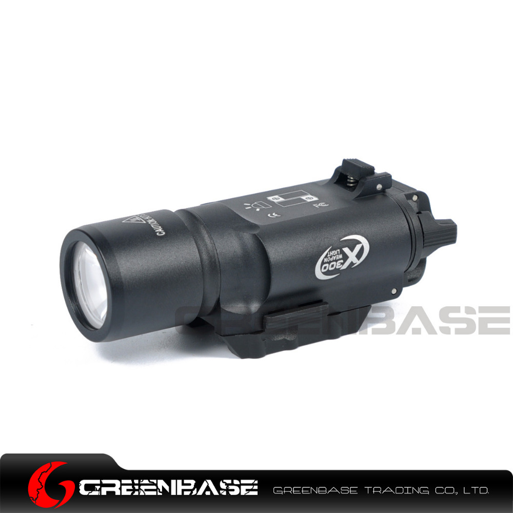 Greenbase Tactical Weapon Light SF X300 Hunting Flashlight Airsoft Pistol Scout Light Constant / Momentary Output Picatinny Rail greenbase tactical m300 m300b mini scout light outdoor rifle hunting flashlight 400 lumen weapon light led lanterna