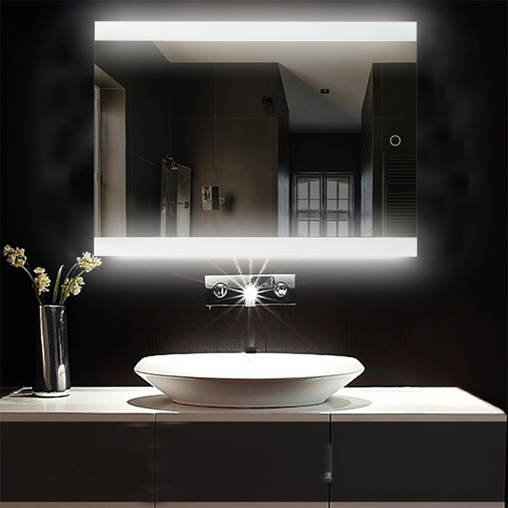 Bathroom Led Glowing Mirror Make Up Cosmetic Mirror Modern Touchable Intellegent Mirror Flameless Wall Mounted Mirror Hwc Bath Mirrors Aliexpress