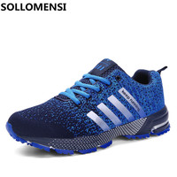 2017 New Lovers Mesh Men Shoes Summer Breathable Male Sneakers Outdoor Training Running Shoes Athletic Plus